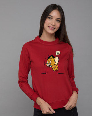 Shop Hello There Jerry Fleece Sweater (TJL)-Front