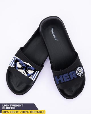 Shop Hero Captain Printed Lightweight Men's Sliders-Front