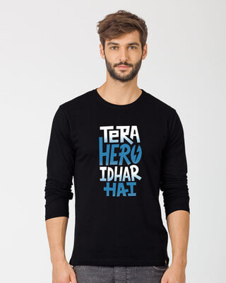 Shop Hero Idhar Hai Full Sleeve T-Shirt-Front
