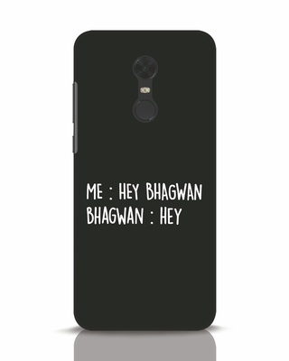 Shop Hey Bhagwan Xiaomi Redmi Note 5 Mobile Cover-Front