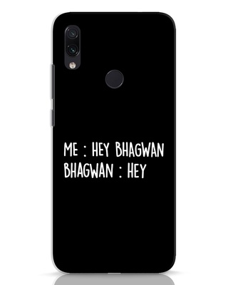 Shop Hey Bhagwan Xiaomi Redmi Note 7 Pro Mobile Cover-Front