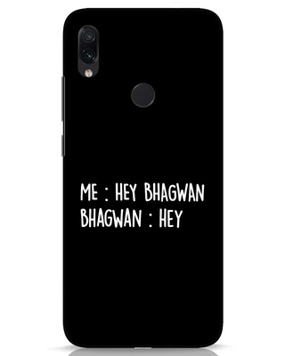 Shop Hey Bhagwan Xiaomi Redmi Note 7s Mobile Cover-Front