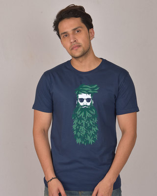 Shop High Beard Vintage Half Sleeve T-Shirt-Front