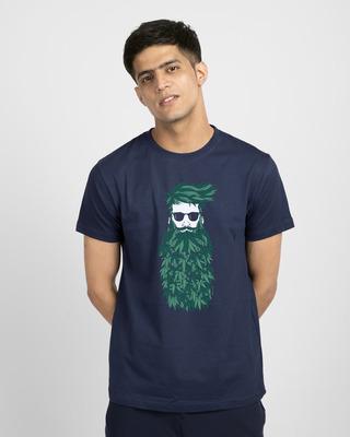 Shop High Beard Vintage Half Sleeve T-Shirt-Front
