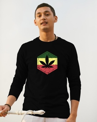 Shop High Colors Full Sleeve T-Shirt Black-Front