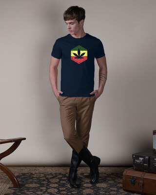 Shop High Colors Half Sleeve T-Shirt Navy Blue-Front