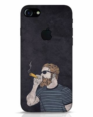 Shop High Dude iPhone 7 Logo Cut Mobile Cover-Front