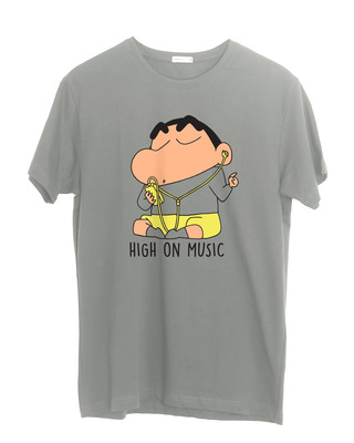 Shop High Music Shinchan Half Sleeve T-Shirt (SHL)-Front