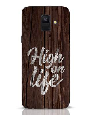 Shop High On Life Samsung Galaxy A6 2018 Mobile Cover-Front