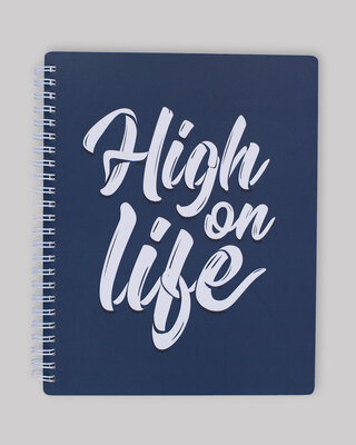 Shop High On Life Spiral Notebook-Front