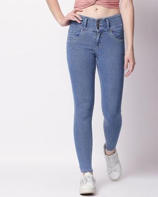 Shop High Star Women Blue Slim Fit Jeans-Front