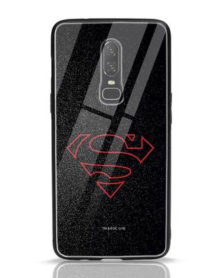 Shop Highlighted Superman OnePlus 6 Glass Mobile Cover-Front