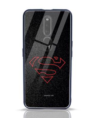 Shop Highlighted Superman Oppo F11 Pro Glass Mobile Cover-Front