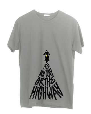 Shop Highway Half Sleeve T-Shirt-Front