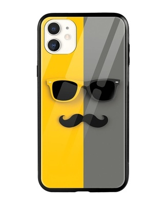 Shop Hipster Yellow iPhone 11 Mobile Cover-Front