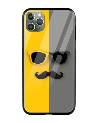 Shop Hipster Yellow iPhone 11 Pro Mobile Cover-Front