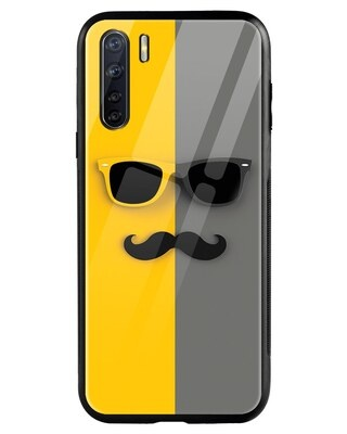 Shop Hipster Yellow Oppo F15 Mobile Cover-Front