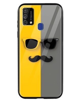 Shop Hipster Yellow Samsung Galaxy F41 Mobile Cover-Front