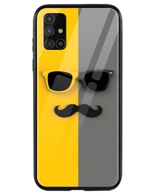 Shop Hipster Yellow Samsung Galaxy M31s Mobile Cover-Front