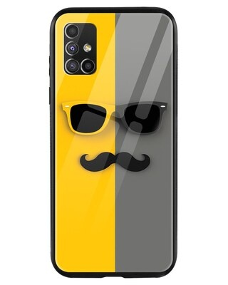 Shop Hipster Yellow Samsung Galaxy M51 Mobile Cover-Front