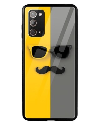Shop Hipster Yellow Samsung Galaxy Note 20 Mobile Cover-Front