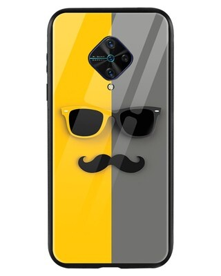 Shop Hipster Yellow Vivo S1 Pro Mobile Cover-Front
