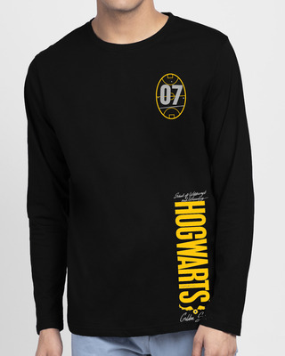 Shop Hogwarts 07 Full Sleeve T-Shirt Black (HPL)-Front