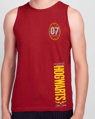 Shop Hogwarts 07 Round Neck Vest Bold Red (HPL)-Front