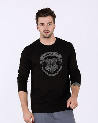 Shop Hogwarts Crest Full Sleeve T-Shirt (HPL)-Front
