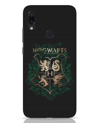 Shop Hogwarts Gold Xiaomi Redmi Note 7 Pro Mobile Cover (HP)-Front