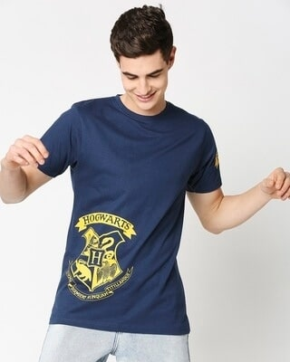 Shop Hogwarts Half Sleeves T-Shirt (HPL)-Front