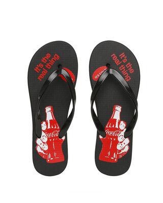 Shop Holding Coca-Cola Printed Women's Flip-flop-Front
