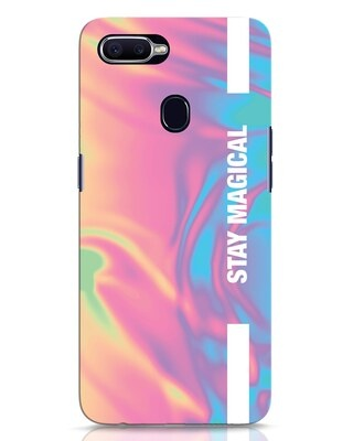Shop Holographic Magical Oppo F9 Pro Mobile Cover-Front