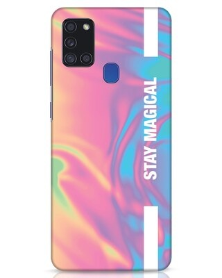 Shop Holographic Magical Samsung Galaxy A21s Mobile Cover-Front