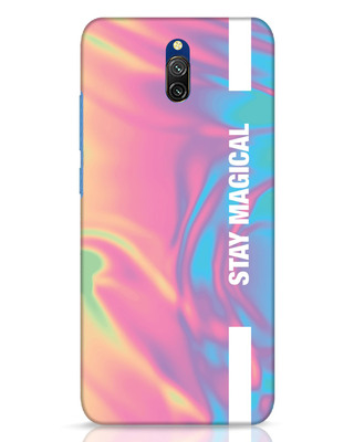 Shop Holographic Magical Xiaomi Redmi 8A Dual Mobile Cover-Front