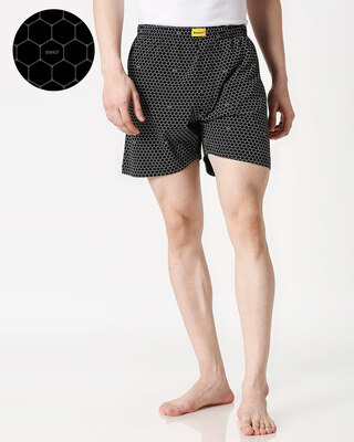 Shop Honey Comb AOP Boxer-Front