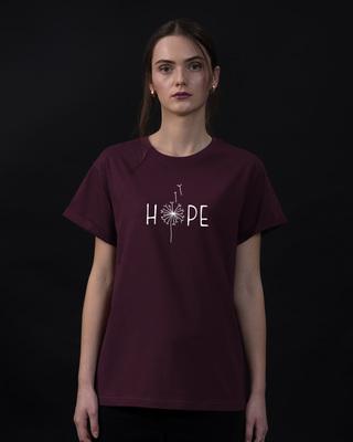 Shop Hope Dandelion Boyfriend T-Shirt-Front