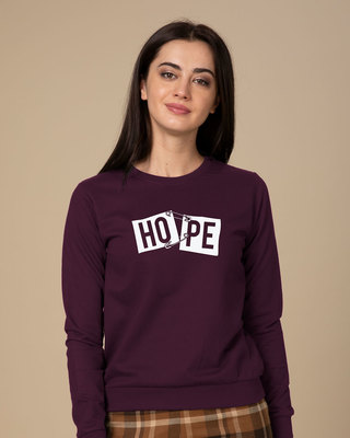 Shop Hope Pin Sweatshirt-Front
