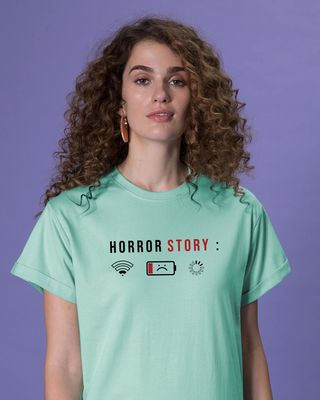 Shop Horror Story Boyfriend T-Shirt-Front