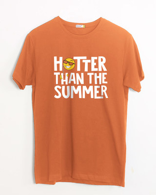 Shop Hotter Than The Summer Half Sleeve T-Shirt-Front