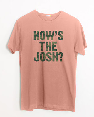Shop How's The Josh Half Sleeve T-Shirt-Front