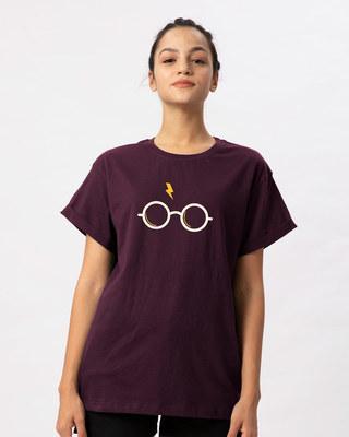 Shop Hp Glasses Boyfriend T-Shirt-Front