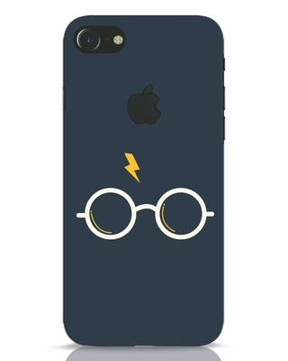 Shop Hp Glasses iPhone 7 Logo Cut Mobile Cover-Front