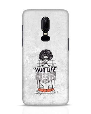 Shop Hug Life OnePlus 6 Mobile Cover-Front