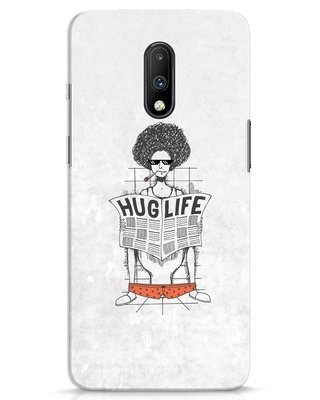 Shop Hug Life OnePlus 7 Mobile Cover-Front