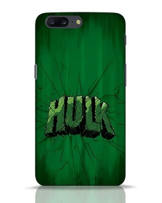 Shop Hulk Crack OnePlus 5 Mobile Cover (AVL)-Front