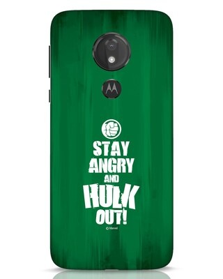Shop Hulk Out Moto G7 Power Mobile Cover (AVG)-Front