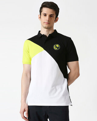 Shop Hulk T-Shirt (AVL) Three Panel Polo-Front