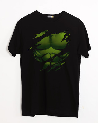Shop Hulk Torn Half Sleeve T-Shirt (AVL)-Front