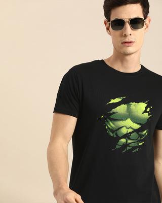 Shop Hulk Torn Half Sleeve T-Shirt (AVL)-Front